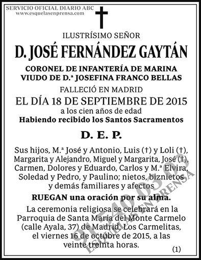 José Fernández Gaytán
